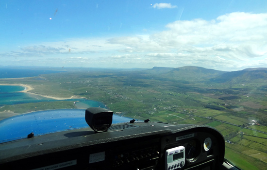 På 1500 ft mot Mullaghmore.