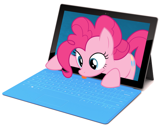 Microsoft Surface w. Pinkie Pie